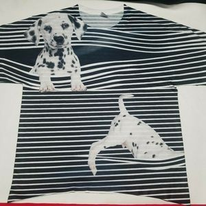 Other - 3D Dalmatian striped Large T-shirt